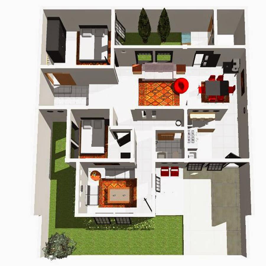 Kumpulan Desain Rumah Minimalis 6x12 3 Kamar 3d Kumpulan Desain Rumah